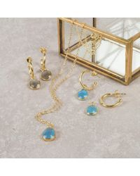 Auree Jewellery - Manhattan Gold Vermeil & Blue Chalcedony Pendant Necklace - Lyst