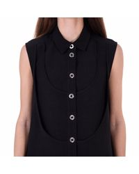 Acephala - Black Sleeveless Dress With Triple Neckline - Lyst