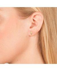 Dutch Basics - Pink Ruit Stud Earrings - Lyst