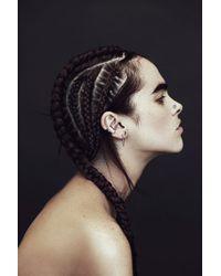 Rachel Entwistle - Black Primary Symbol Hoops Silver - Lyst
