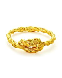 Chupi - Metallic Forget Me Knot Ring Gold - Lyst