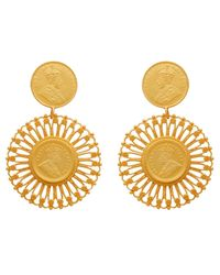 Carousel Jewels - Multicolor Matte Antique Coin Vermeil Earrings - Lyst