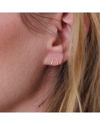 Irena Chmura Jewellery Metallic Arc Studs