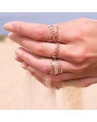 Annabelle Lucilla Jewellery Metallic Tiny Diamond Stacking Ring Rose Gold