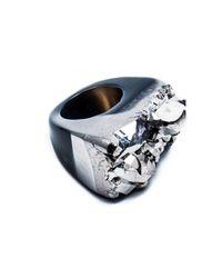 Tiana Jewel - Ember-metallic-silver-ring-moro-collection - Lyst