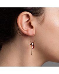 Nadia Minkoff - Multicolor Hoop Cluster Baguette Earring Magma - Lyst