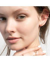 Astrid & Miyu | Metallic Thin Line Ear Cuff Gold | Lyst