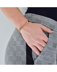 Opes Robur - Metallic Rose Gold Bolt On Screw Cuff Bracelet - Lyst
