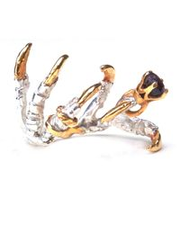 Tessa Metcalfe - Metallic Pigeon Grasp Claws With Sapphire Ring - Lyst