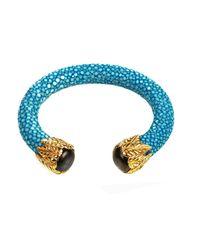 Latelita London - Stingray Bangle Ocean Blue With Labradorite - Lyst