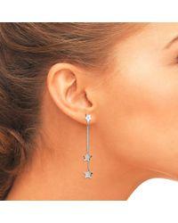 Latelita London - Multicolor Cosmic Asymmetric Earring Star White Topaz Silver - Lyst
