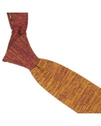 40 Colori Multicolor Rust Vanise Cotton Knitted Tie for men