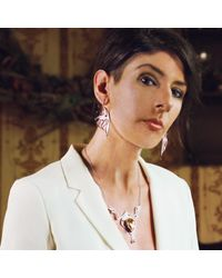 Nooneh London - Metallic Karnak Statement Necklace - Lyst