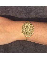 Latelita London | Metallic Lotus Bracelet Rosegold Champagne | Lyst