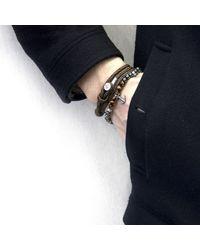 Anchor & Crew - Multicolor Brown Tigers Eye Keel Silver & Stone Bracelet for Men - Lyst
