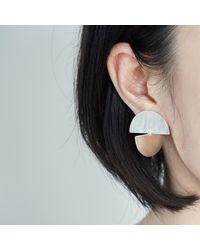 J.Y. GAO - Metallic Full Moon & Half Moon Earrings - Lyst