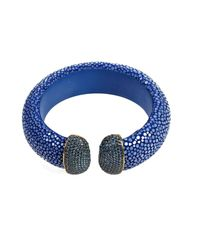 Latelita London - Stingray Cuff Royal Blue Sapphire - Lyst