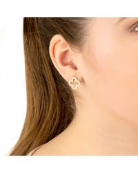 Latelita Metallic Open Clover Earring Gold