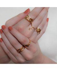 MARIE JUNETM Jewelry - Metallic Bundle Gold Ring - Lyst
