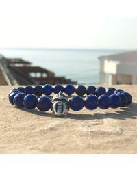 Latelita London - Warrior Bracelet Sterling Silver Dark Blue Agate for Men - Lyst