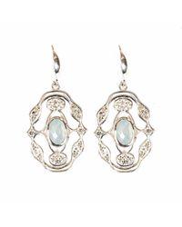 Neola - Metallic Norresa Sterling Silver Earrings Aqua Chalcedony - Lyst
