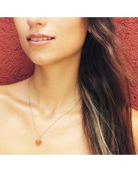 Puck Wanderlust - Metallic Carnelian Gold July Birthday Charm Necklace - Lyst