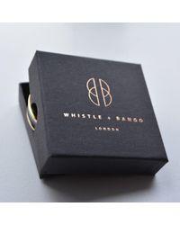 Whistle & Bango - Metallic Grey Alphabet Bangle Regular for Men - Lyst