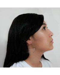 MARIE JUNETM Jewelry Half Ripples Milky White Hoops