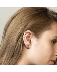 Astrid & Miyu Metallic Line Ear Jacket In Silver