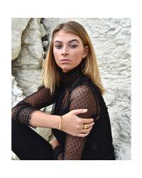 Opes Robur - Metallic Gold And Rose Classic Screw Cuff Bracelet - Lyst