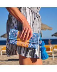 Soi 55 - Blue Conchita Mexican Beach Clutch Purse Elena - Lyst