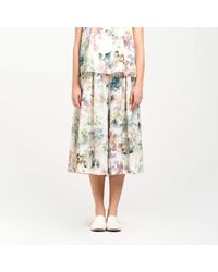 Paisie Multicolor Floral Culottes With Elasticated Waist