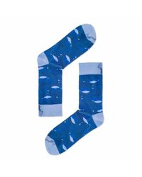 Aloha From Deer - Blue Under The Sea Cotton Socks for Men - Lyst