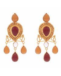 Carousel Jewels - Red Onyx & Carnelian Earrings - Lyst