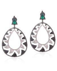 Meghna Jewels - Multicolor Interlocking Claw Earrings - Lyst
