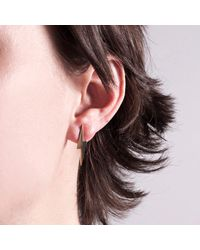 Edge Only Metallic Pointed Lightning Bolt Earrings Gold