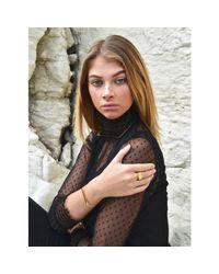 Opes Robur - Metallic Gold Slim Plaque Bracelet - Lyst