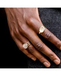 Serge Denimes - Metallic Stacked Bedrock Ring for Men - Lyst