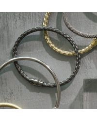 Durrah Jewelry   Metallic Silver Woven Bracelet For Her   Lyst
