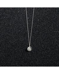 KIND Jewellery - Metallic Silver Mini Crescent Lune Disc Necklace - Lyst