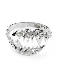 Kasun Metallic Fang Bangle Silver