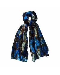 Jennifer Rothwell Blue Madeline Print Silk Scarf