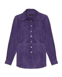 VEIL LONDON Purple Suede Shirt
