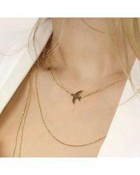 Talia Naomi - Metallic Beluga Infinity Chain Gold - Lyst