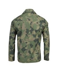 Lords of Harlech - Green Fritz Jacket In Olive Camo for Men - Lyst