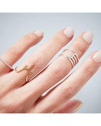 KIND Jewellery - Metallic Silver Eclipse Ring - Lyst