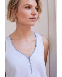 Womensecret Pijama corto estampado cenefa Women'secret de color Blue