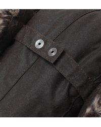 Barbour - Hardwick Olive Green Fur Trim Trapper Hat for Men - Lyst
