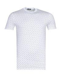 DSquared² All Over Logo White T-shirt for men