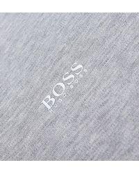 BOSS Green Gray Boss Paule Grey Marl Polo Shirt for men